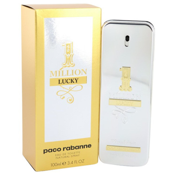 1 Million Lucky by Paco Rabanne Eau De Toilette Spray oz for Men