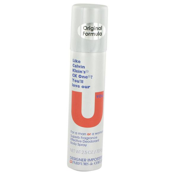 Designer Imposters U You by Parfums De Coeur Deodorant Body Spray (Unisex) 2.5 oz for Women
