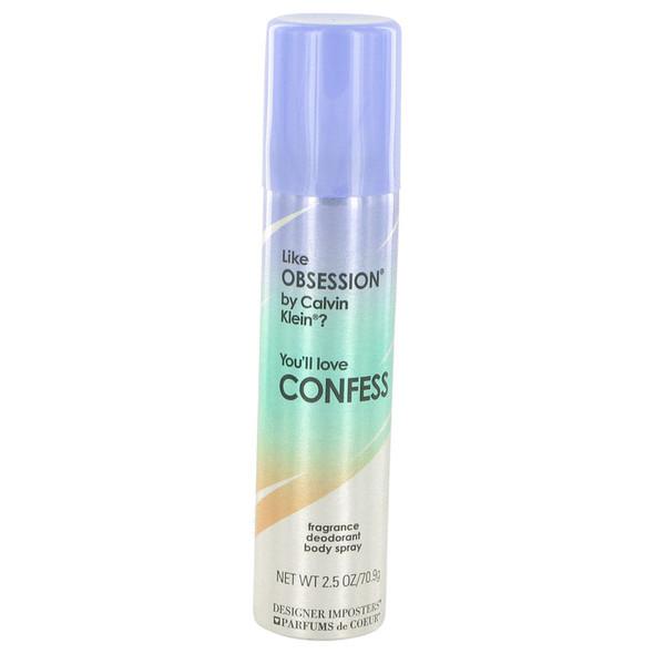 Designer Imposters Confess by Parfums De Coeur Deodorant Body Spray 2.5 oz for Women