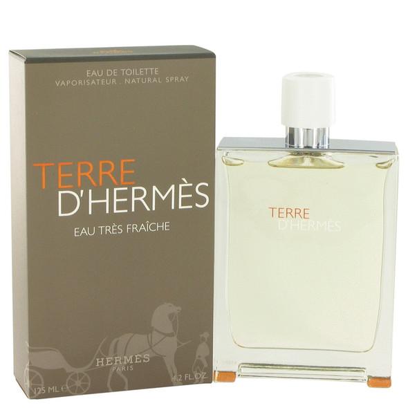 Terre D'Hermes by Hermes Eau Tres Fraiche Eau De Toilette Spray 4.2 oz for Men