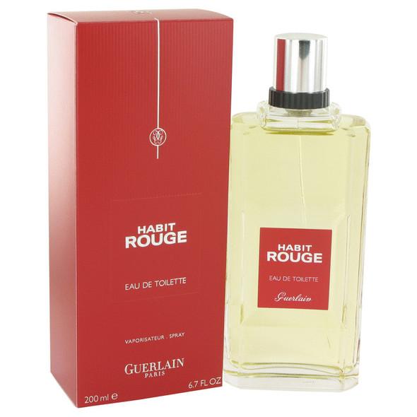 HABIT ROUGE by Guerlain Eau De Toilette Spray 6.8 oz for Men