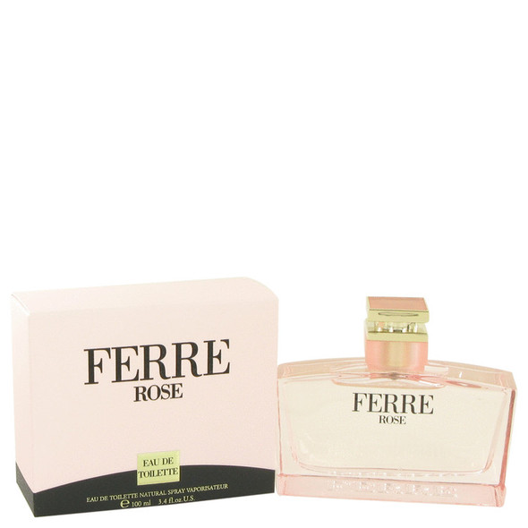 Ferre Rose by Gianfranco Ferre Eau De Toilette Spray 3.4 oz for Women
