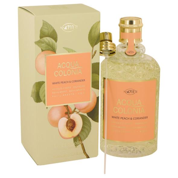 4711 Acqua Colonia White Peach & Coriander by Maurer & Wirtz Eau De Cologne Spray for Women