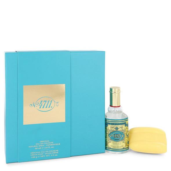 4711 by Muelhens Gift Set -- 3 oz Eau De Cologne Spray + 3.5 oz Soap for Men