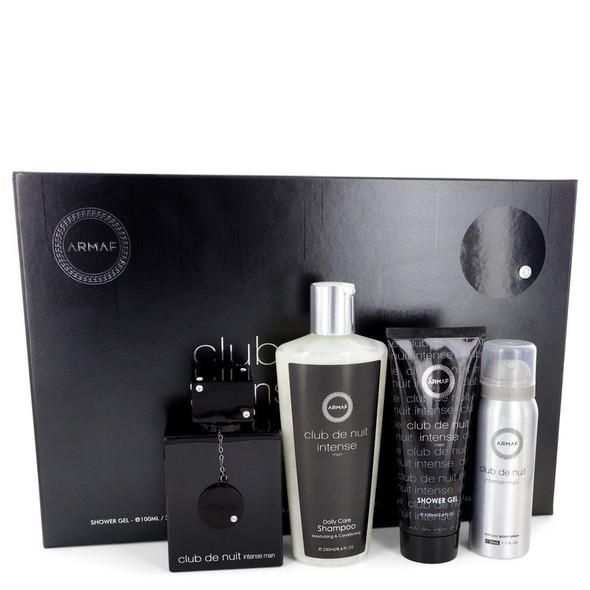 Club De Nuit Intense by Armaf Gift Set -- 3.6 oz Eau De Toilette Spray + 1.7 oz Body Spray + 3.4 oz Shower Gel + 8.4 oz Shampoo with Conditioner for Men