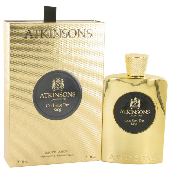 Oud Save The King by Atkinsons Eau De Parfum Spray 3.3 oz for Men