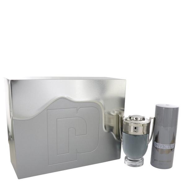 Invictus by Paco Rabanne Gift Set -- 3.4 oz Eau De Toilette Spray + 5.1 oz Deodorant Spray for Men
