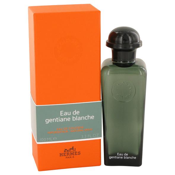 Eau De Gentiane Blanche by Hermes Eau De Cologne Spray 3.3 oz for Men