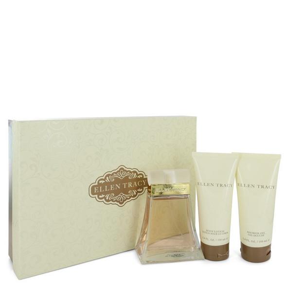 ELLEN TRACY by Ellen Tracy Gift Set -- 3.4 oz Eau De Parfum Spray + 3.4 oz Body Lotion + 3.4 oz Shower Gel for Women