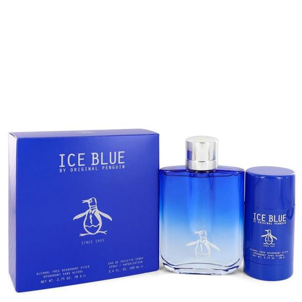 Original Penguin Ice Blue by Original Penguin Gift Set -- 3.4 oz Eau De Toilette Spray + 2.75 oz Deodorant Stick for Men