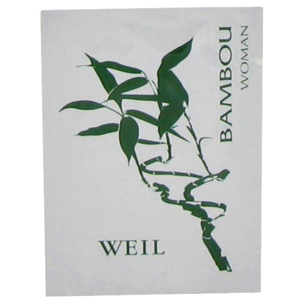 BAMBOU by Weil Perfume Wipes .06 oz for Women
