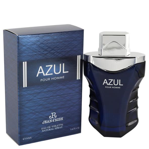 Azul Pour Homme by Jean Rish Eau De Toilette Spray 3.4 oz for Men
