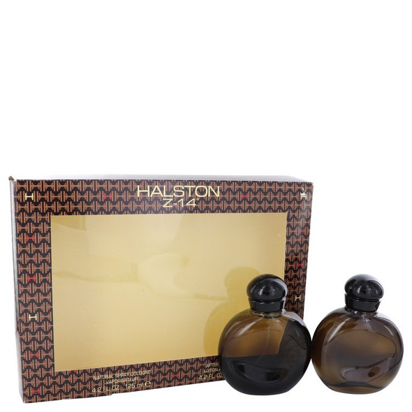HALSTON Z-14 by Halston Gift Set -- 4.2 oz Cologne Spray + 4.2 oz After Shave + In Display Box for Men