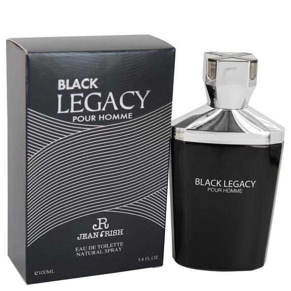 Black Legacy Pour Homme by Jean Rish Eau De Toilette Spray 3.4 oz for Men