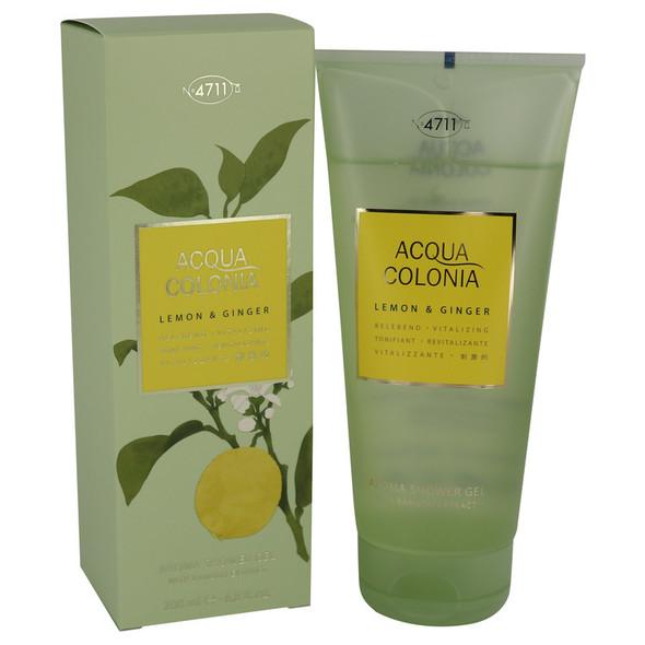 4711 ACQUA COLONIA Lemon & Ginger by Maurer & Wirtz Shower Gel 6.8 oz for Women