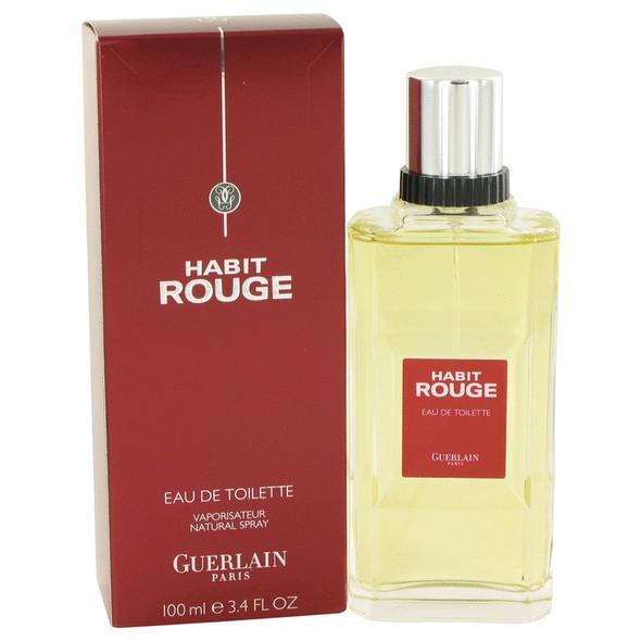 HABIT ROUGE by Guerlain Cologne / Eau De Toilette Spray 3.4 oz for Men