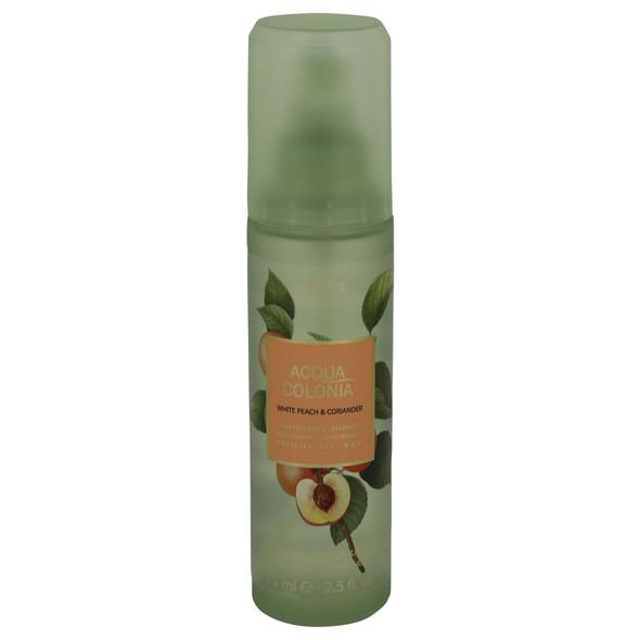 4711 Acqua Colonia White Peach & Coriander by Maurer & Wirtz Body Spray 2.5 oz for Women