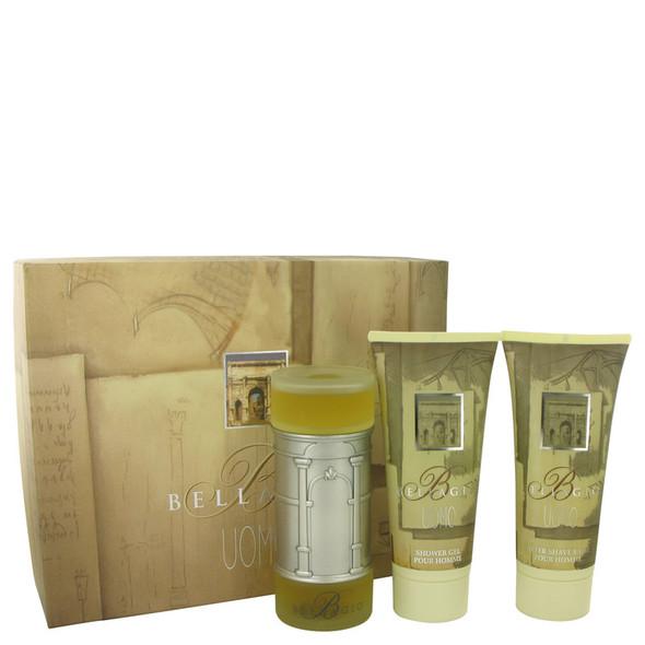 BELLAGIO by Bellagio Gift Set -- 3.4 oz Eau De Toilette Spray + 6.8 oz Shower Gel + 6.8 oz After Shave Balm for Men
