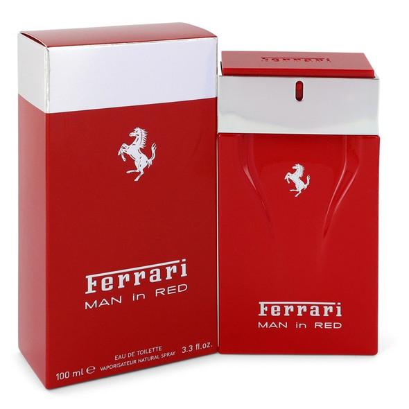 Ferrari Man In Red by Ferrari Eau De Toilette Spray 3.4 oz for Men