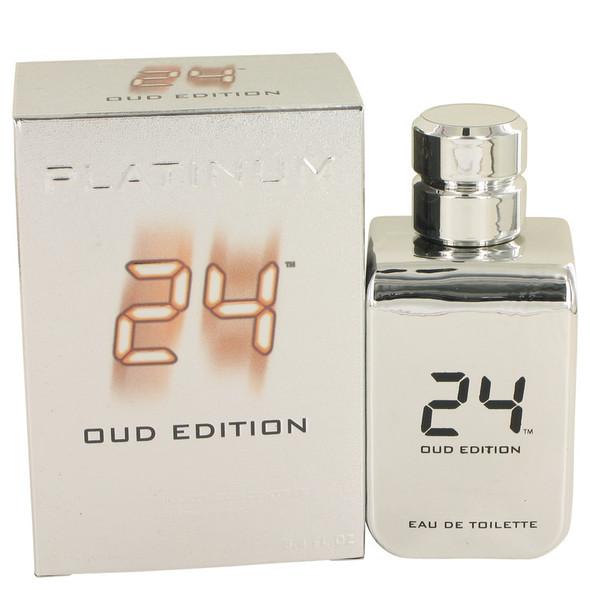 24 Platinum Oud Edition by ScentStory Eau De Toilette Concentree Spray (Unisex) 3.4 oz for Men