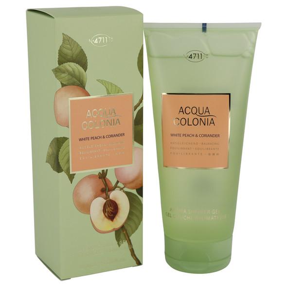 4711 Acqua Colonia White Peach & Coriander by Maurer & Wirtz Shower Gel 6.8 oz for Women