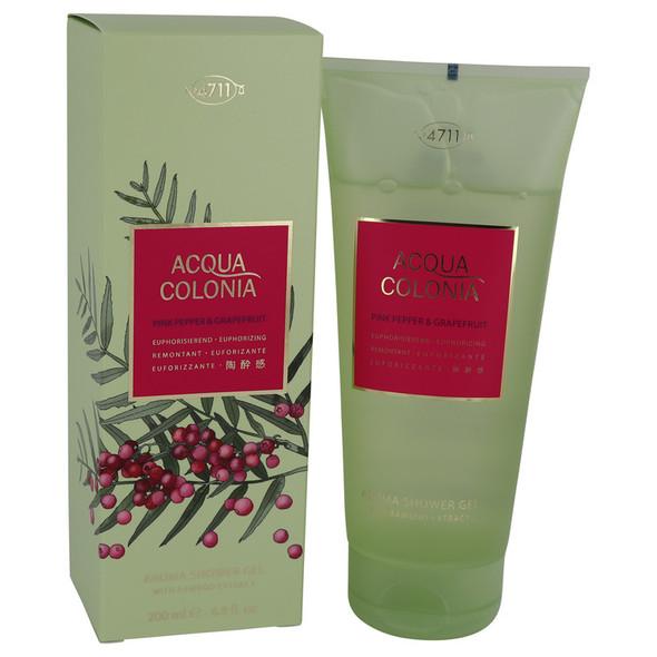 4711 Acqua Colonia Pink Pepper & Grapefruit by Maurer & Wirtz Shower Gel 6.8 oz for Women