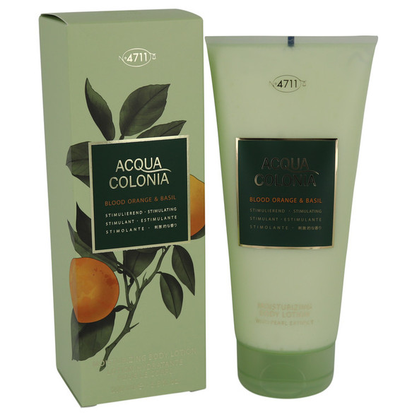 4711 Acqua Colonia Blood Orange & Basil by Maurer & Wirtz Body Lotion 6.8 oz for Women