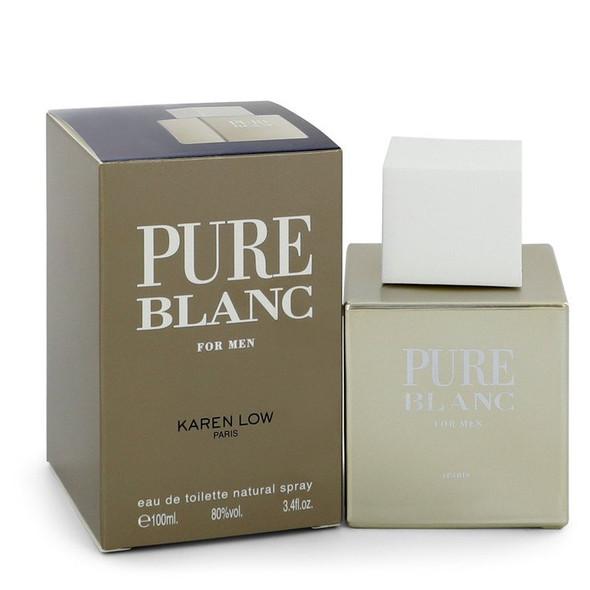 Pure Blanc by Karen Low Eau De Toilette Spray 3.4 oz for Men