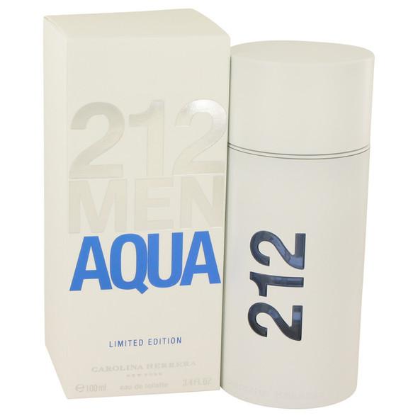 212 Aqua by Carolina Herrera Eau De Toilette Spray 3.4 oz for Men