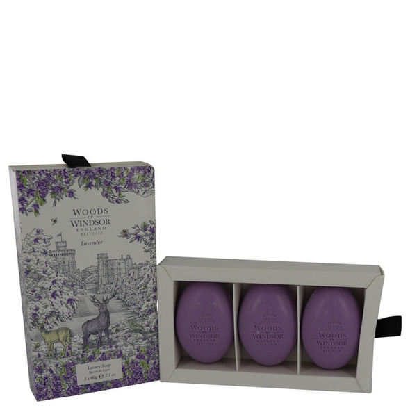 Lavender by Woods of Windsor Fine English Soap 3 x 2.1 oz for Women