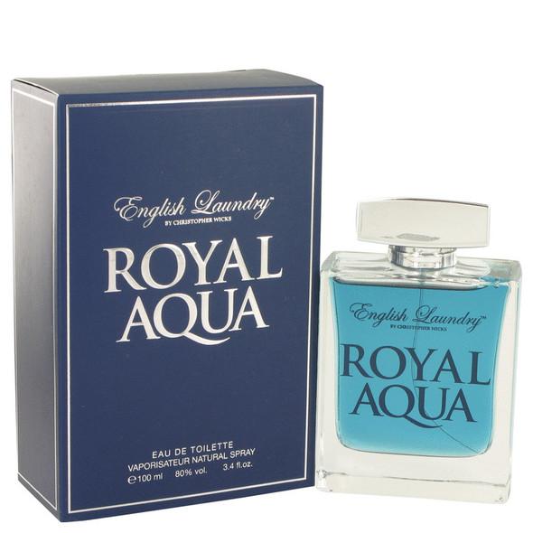 Royal Aqua by English Laundry Eau De Toilette Spray 3.4 oz for Men