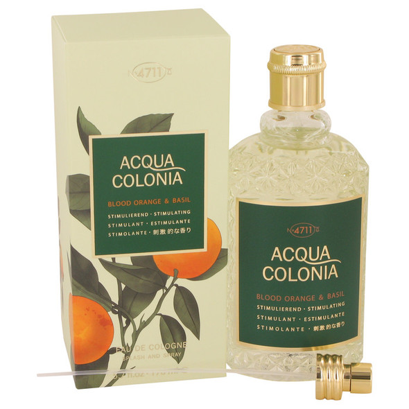4711 Acqua Colonia Blood Orange & Basil by Maurer & Wirtz Eau De Cologne Spray (Unisex) 5.7 oz for Women