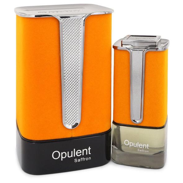 Al Haramain Opulent Saffron by Al Haramain Eau De Parfum Spray (Unisex) 3.3 oz for Men