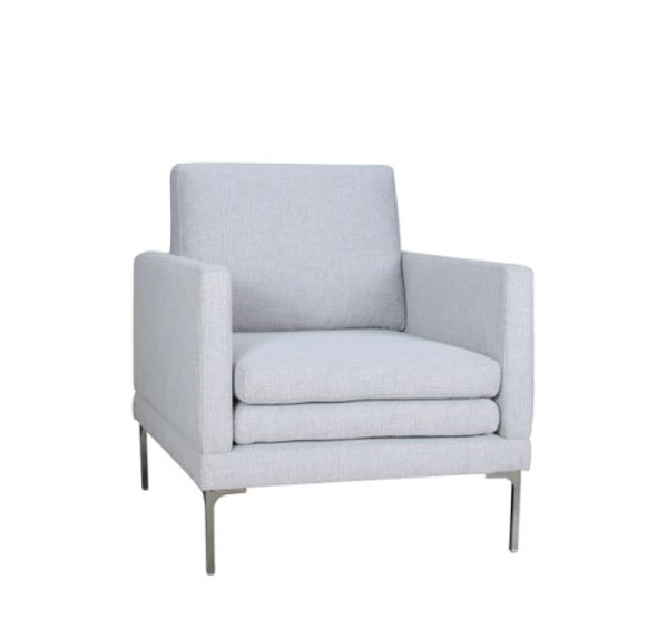 """34"""" X 36"""" X 34"""" silver Polyester Chair"""