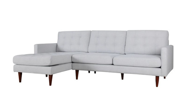 "105"" X 61"" X 38"" Beige Polyester Laf Sectional"