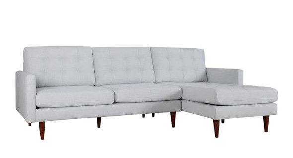 "105"" X 61"" X 38"" Beige Polyester Raf Sectional"