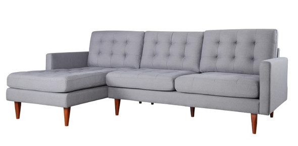 "105"" X 61"" X 38"" Gray Polyester Laf Sectional"