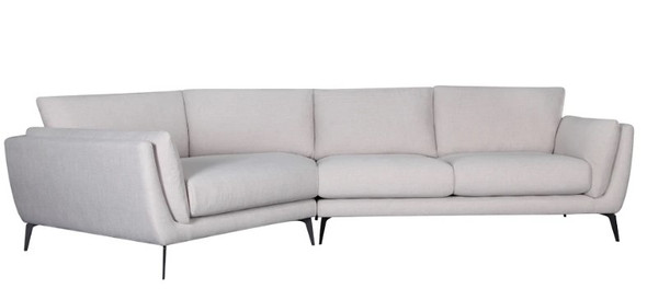 "134"" X 65"" X 35"" Oatmeal Polyester Laf Sectional"