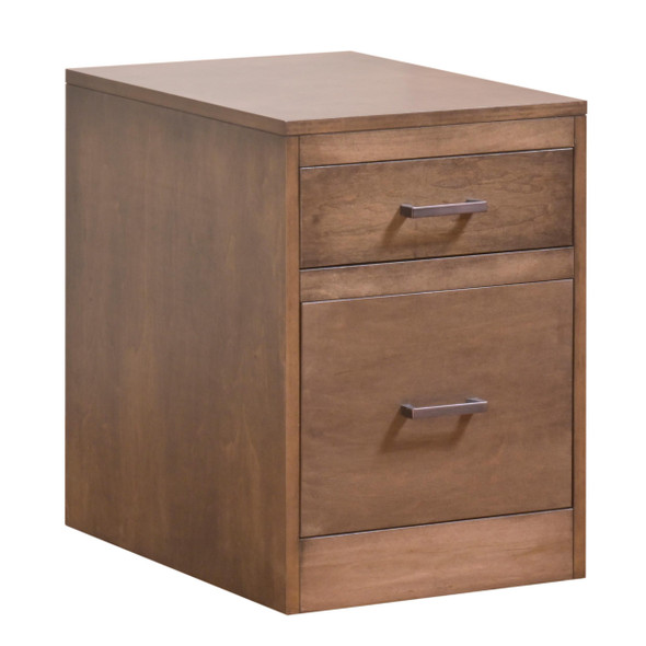 "17"" X 22"" X 24"" Cappuccino Wood Rolling File Cabinet"