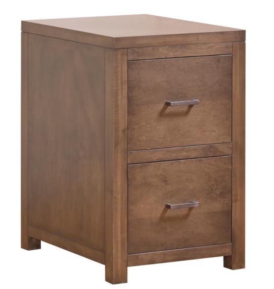 "19'.5"" X 24"" X 30'.5"" Cappuccino Wood 2 Drawer File"