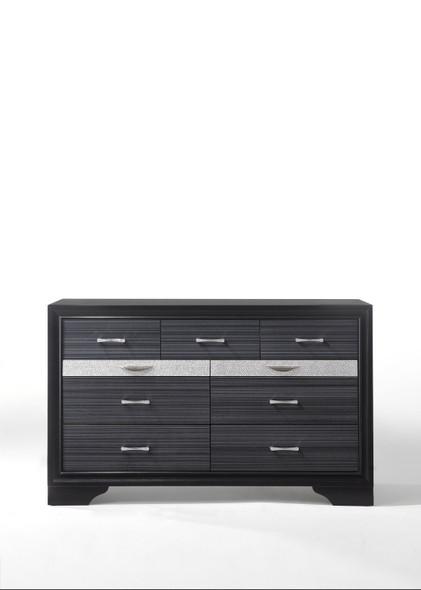 """17"""" X 63"""" X 39"""" Black Wood Dresser"""