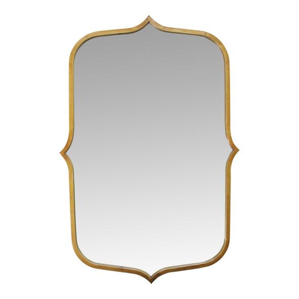 "24"" X 0.78"" X 36"" Antique Gold Metal Glass Mdf Mirror"