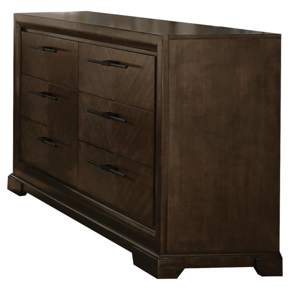 "19"" X 66"" X 36"" Tobacco Wood Dresser"