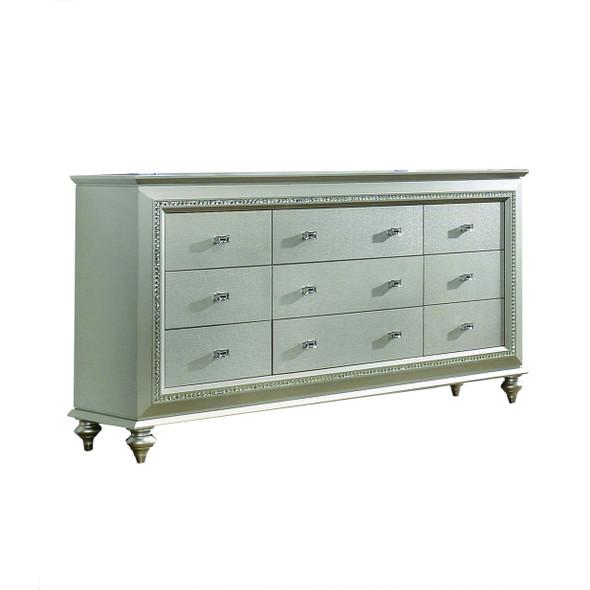 "18"" X 66"" X 39"" Champagne Wood Dresser"