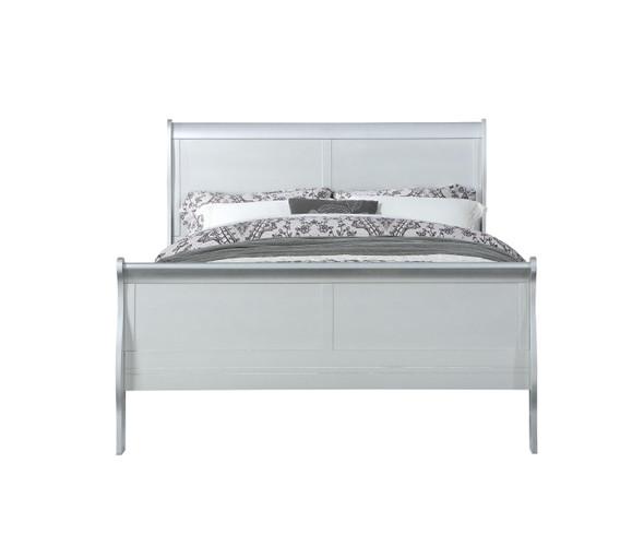 """56"""" X 85"""" X 47"""" Platinum Wood Full Bed - 347116"""