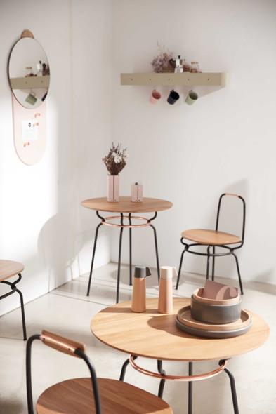 "41"" x 77.4"" x 50"" Black Wood Steel Chair"