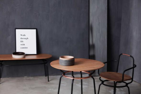 "41"" x 77.4"" x 51.3"" Black Wood Steel Chair - 373889"