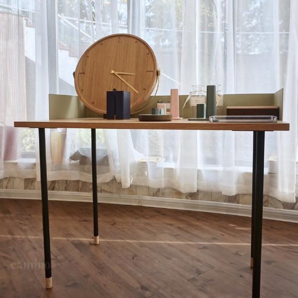"""83.6"""" x 83.6"""" x 60"""" Beige Veneer Steel Desk"""