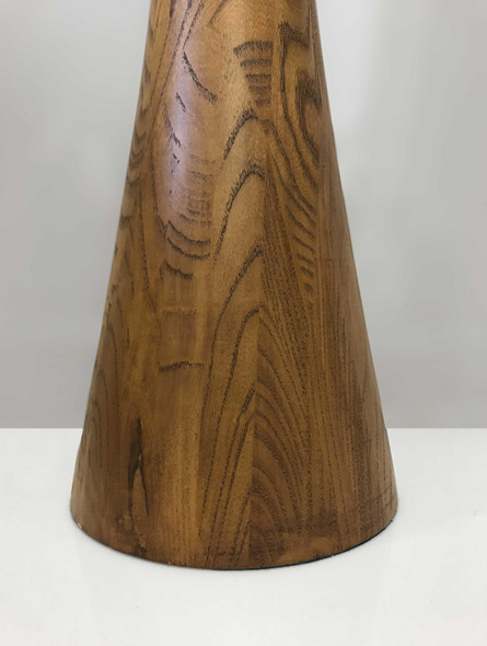 "10"" X 10"" X 68"" Walnut Wood Floor Lamp"