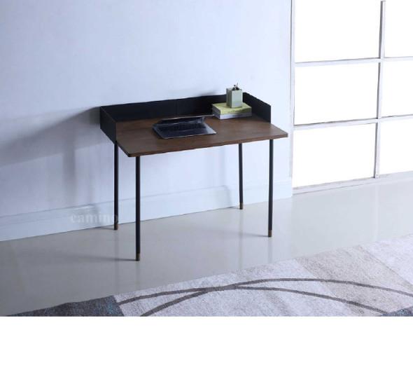 "83.6"" x 83.6"" x 60"" Walnut Veneer Steel Desk"